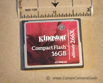 Kingston Compact Flash memory card