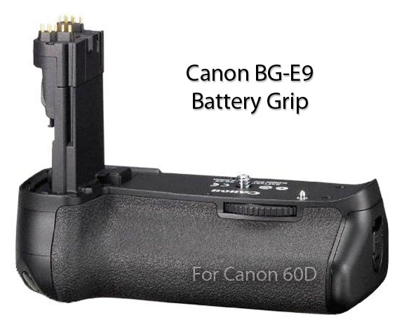 Diagonal View of Canon BG-E9 Battery Grip