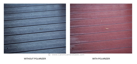 Dramatic Difference in Color When Using a Polarizing Filter