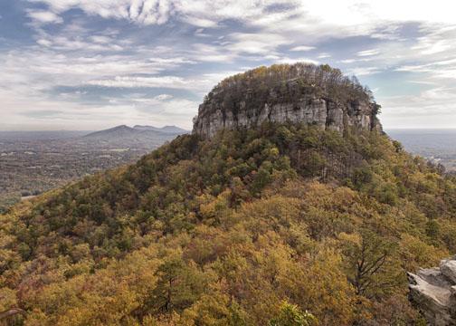 Fall photo taken of Mount Pilot with the Canon Powershot G1X Mark II Camera