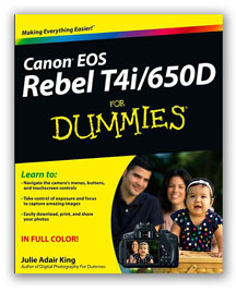 Front Cvoer of Canon Camera Book on Canon T4i