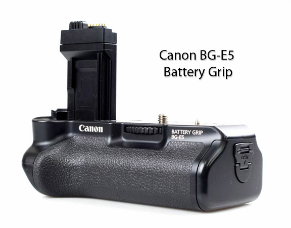 Front View of Canon BG-E5 Battery Grip