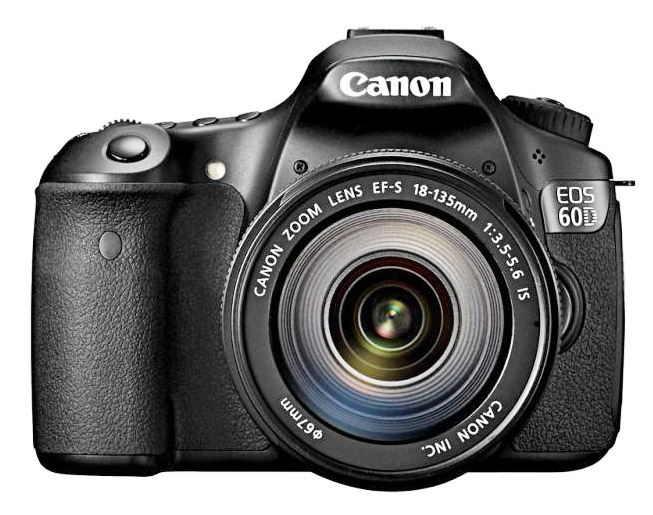 Front View of Canon EOS 60D Camera