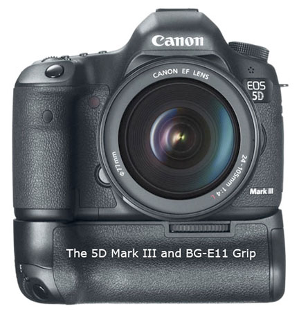 Canon EOS 5D Mark III and Battery Grip BG-E11