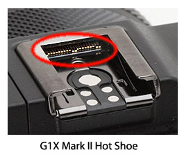 Contacts on G1X Mark II hot shoe