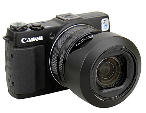 Canon Powershot G1X Mark II With Lens Hood Reversed