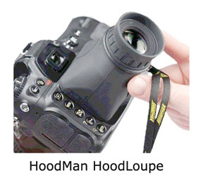 HoodMan HoodLoupe for Canon Rebel Cameras