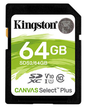 Kingston 64GB SD Memory Card