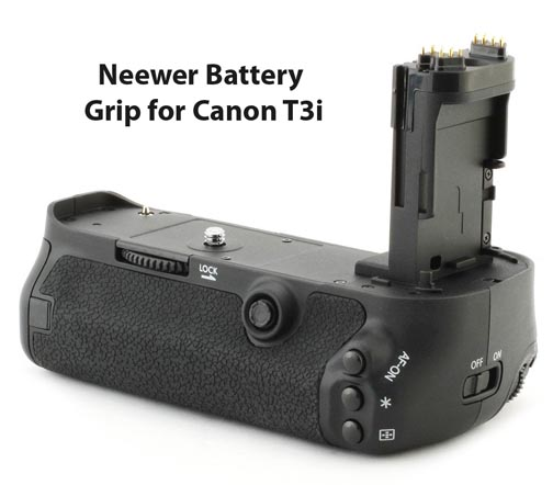 Cheaper alternative battery grip for Canon Rebel t3i camera