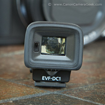 Front view of EVF Viewfinder for G1X Mark II