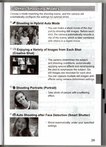 Typical page from black-and-white printed manual for the G1X Mark II