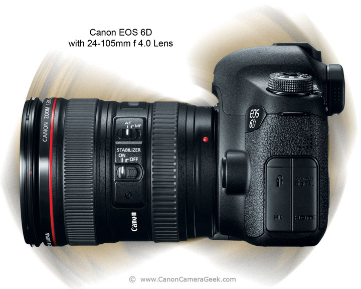 Side View of Canon EOS 6D Camera