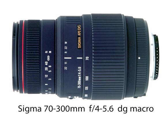 Sigma 70-300 f4-f5.6 lens