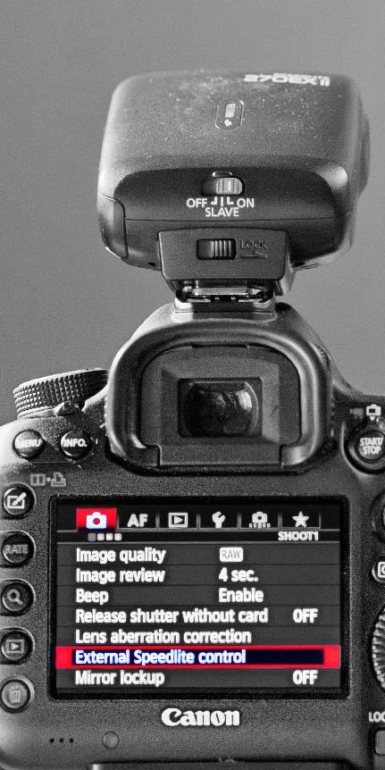 Canon 5D Mark III - External Speedlight Control
