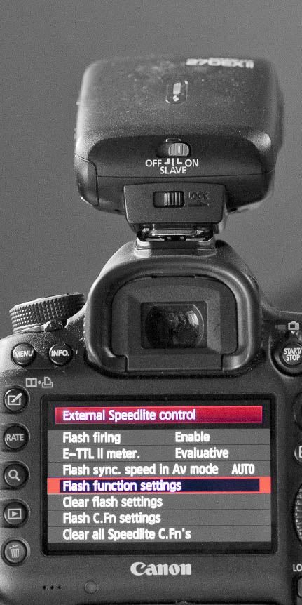 Canon 5D Mark III - Flash Function Settings