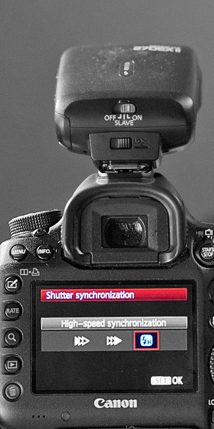 Canon 5D Mark III - Shutter Speed Synchronization Setting