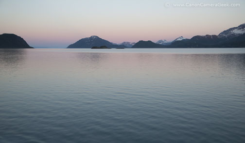 Glacier Bay - Rainbow Sunset - Canon 5D Mark II
