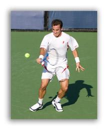 Pro tennis action photo