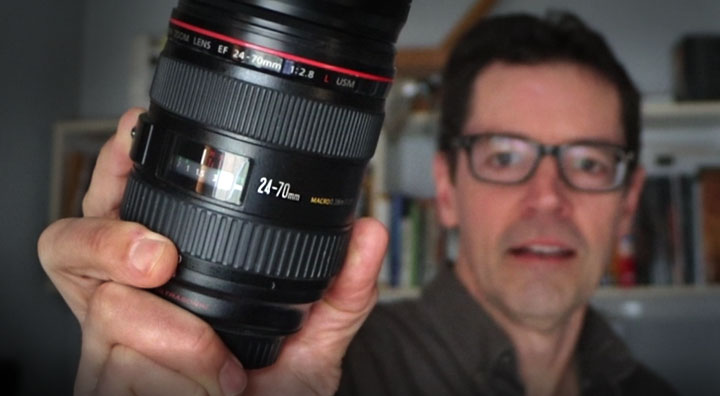 The author and his 24-70 lens