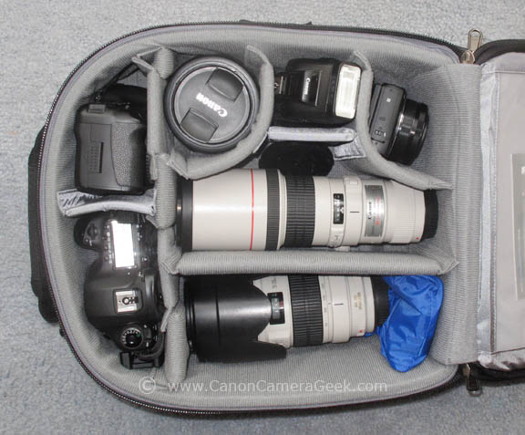My Canon Travel Camera Bag - made by Think Tank Photo
