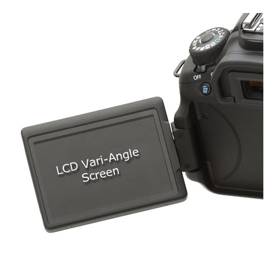 Tilt and Swivel VariAngle LCD Screen on Canon EOS 60D