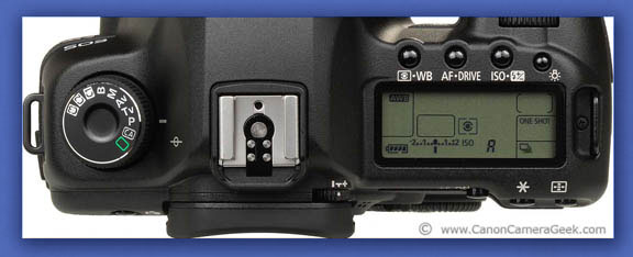 Canon 5d Mark iii-top view