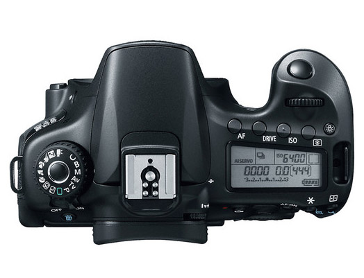 Top View of Canon EOS 60D Camera