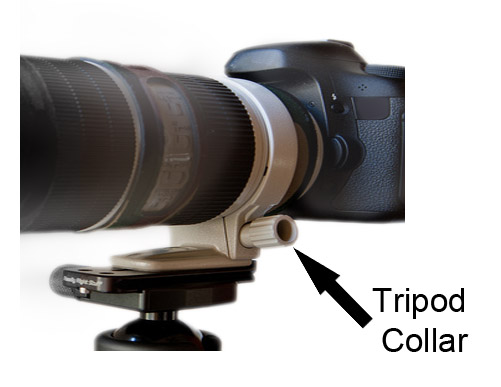 Tripod Collar-Lens-Camera Combination