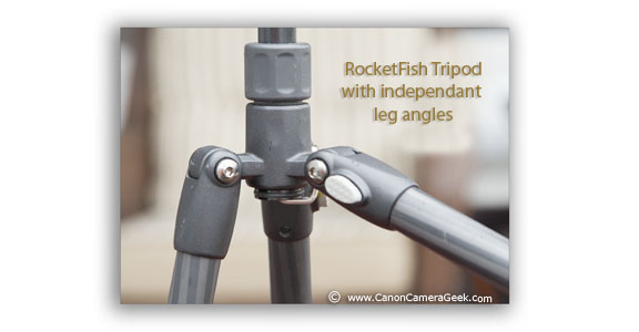 Independently angled tripod legs