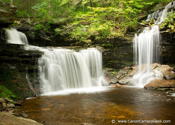 Waterfall photography with Canon EF 24-105mm f4 Lens