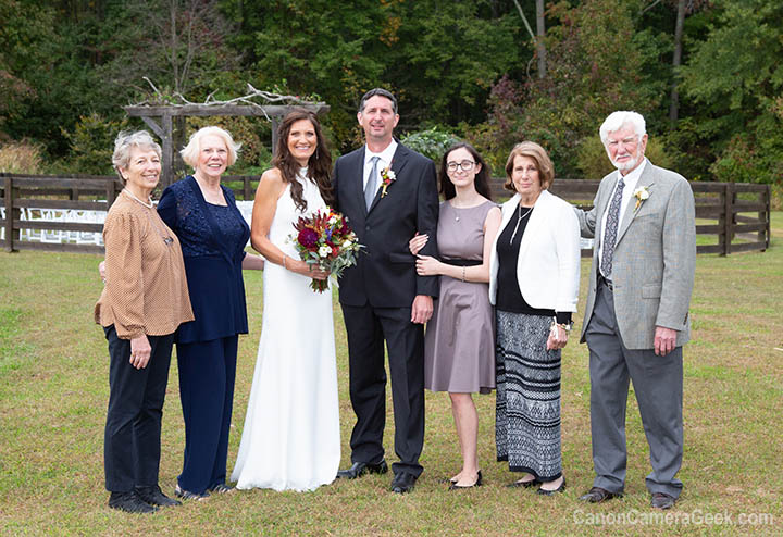 Wedding group pose