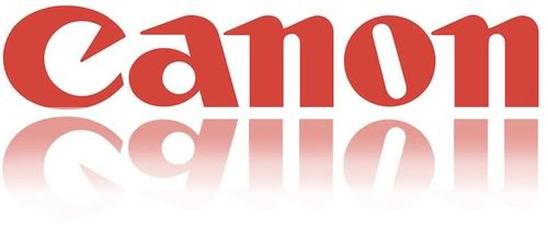 Canon Camera Logo With Reflection