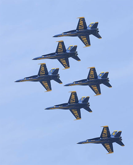 Action US Navy jets flyover