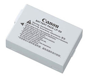 Battery for Canon t3i Camera