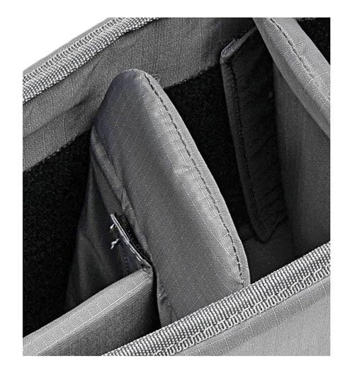 Camera bag padding - close-up