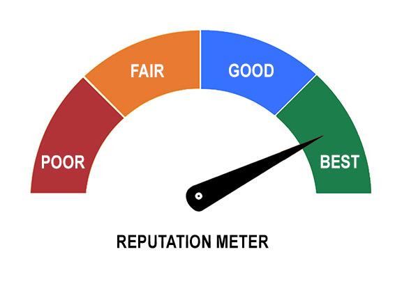 camera seller reputation meter
