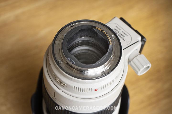 Canon 70-200mm lens barrel room
