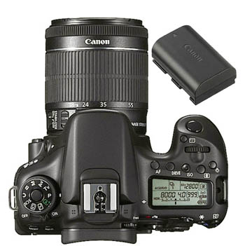 Canon 70D kit with 18-55 lens and battery