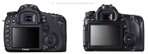 Canon 7D vs Canon 70D LCD screen