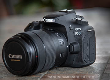 Canon 90D front of camera