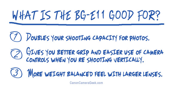 Canon BG-Ell Battery Grip Advantages