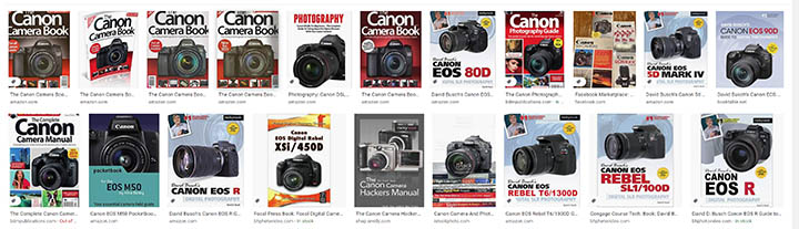 Canon camera book collection