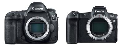 Canon 5d Mark IV - EOS R Size Comparison