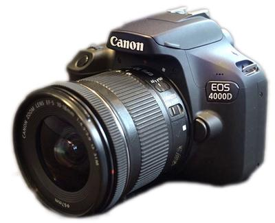 Canon EOS 4000D (T100)<br>With EF-S 10-18mm Lens