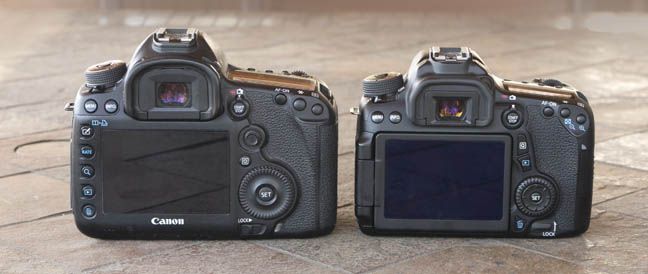 Canon 5d Mark III Size comparison With EOS 70D
