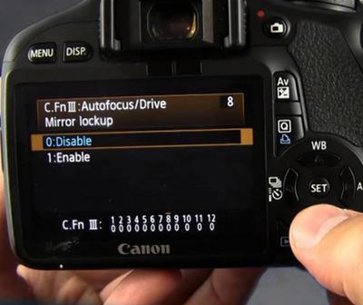 Canon Mirror Lock-up Function