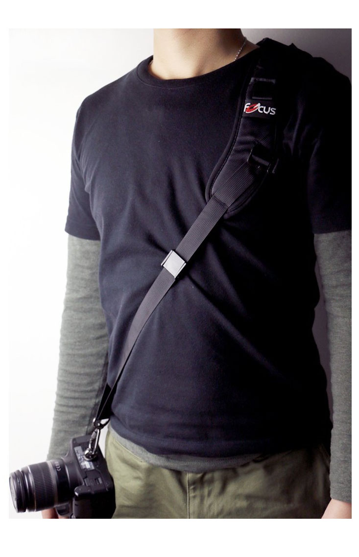 Shoulder Strap on Photographer