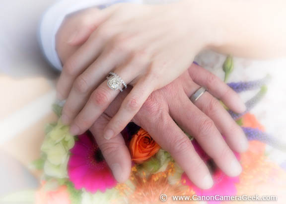 Close-up wedding photo of hands using the Canon 24-105mm f/4.0 Lens