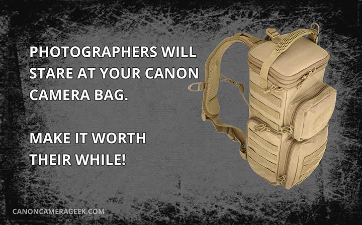 Canon Camera Bag Quote