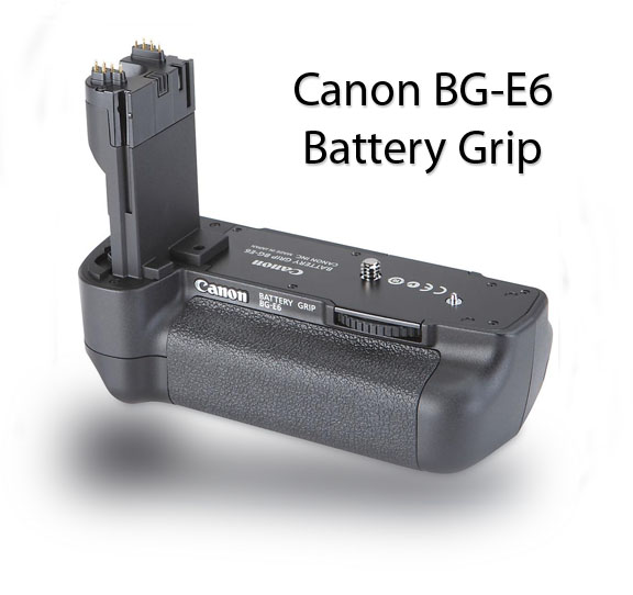 Diagonal View of BG-E6 Battery Grip
